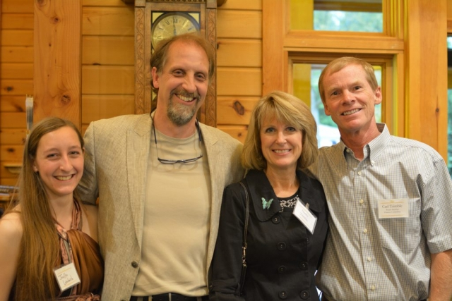 Executive Director Ken Leinbach with supporters of the Urban Ecology Center