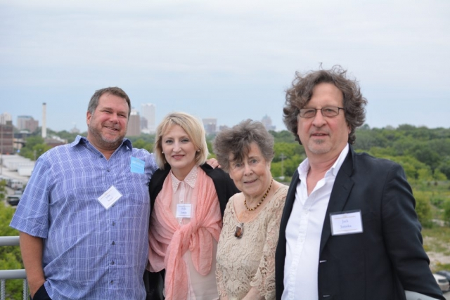 Supporters of the Urban Ecology Center on top of the Observation Tower