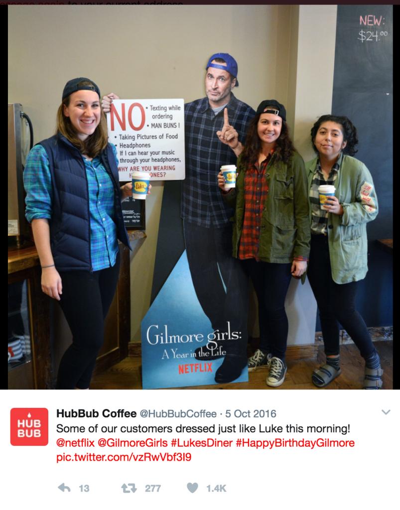 HubBub Coffee Twitter Post