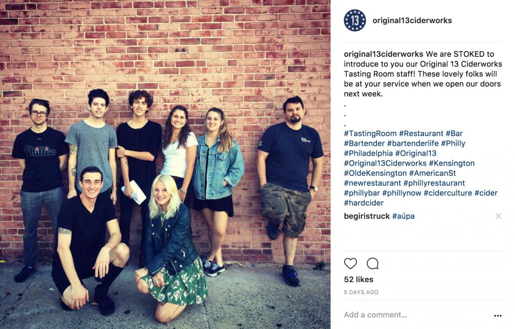Original 13 Ciderworks Instagram Post