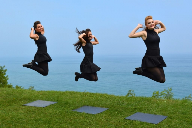 Irish Dancers Jump