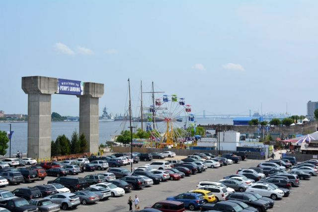 Penns Landing Parking Lot