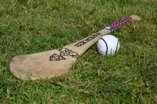 Hurley and ball used by a Milwaukee Hurling Club player