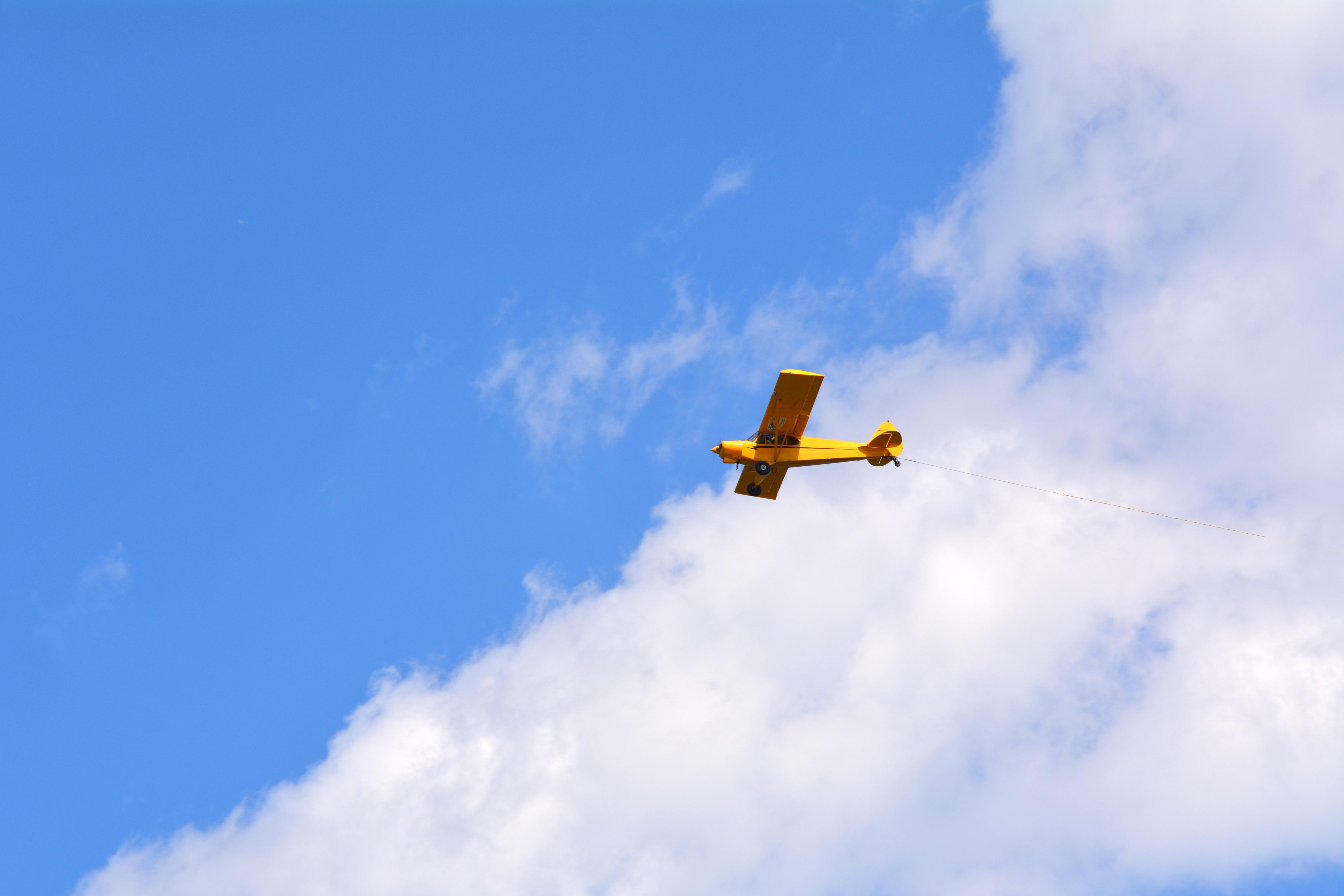 A small plane in flight
