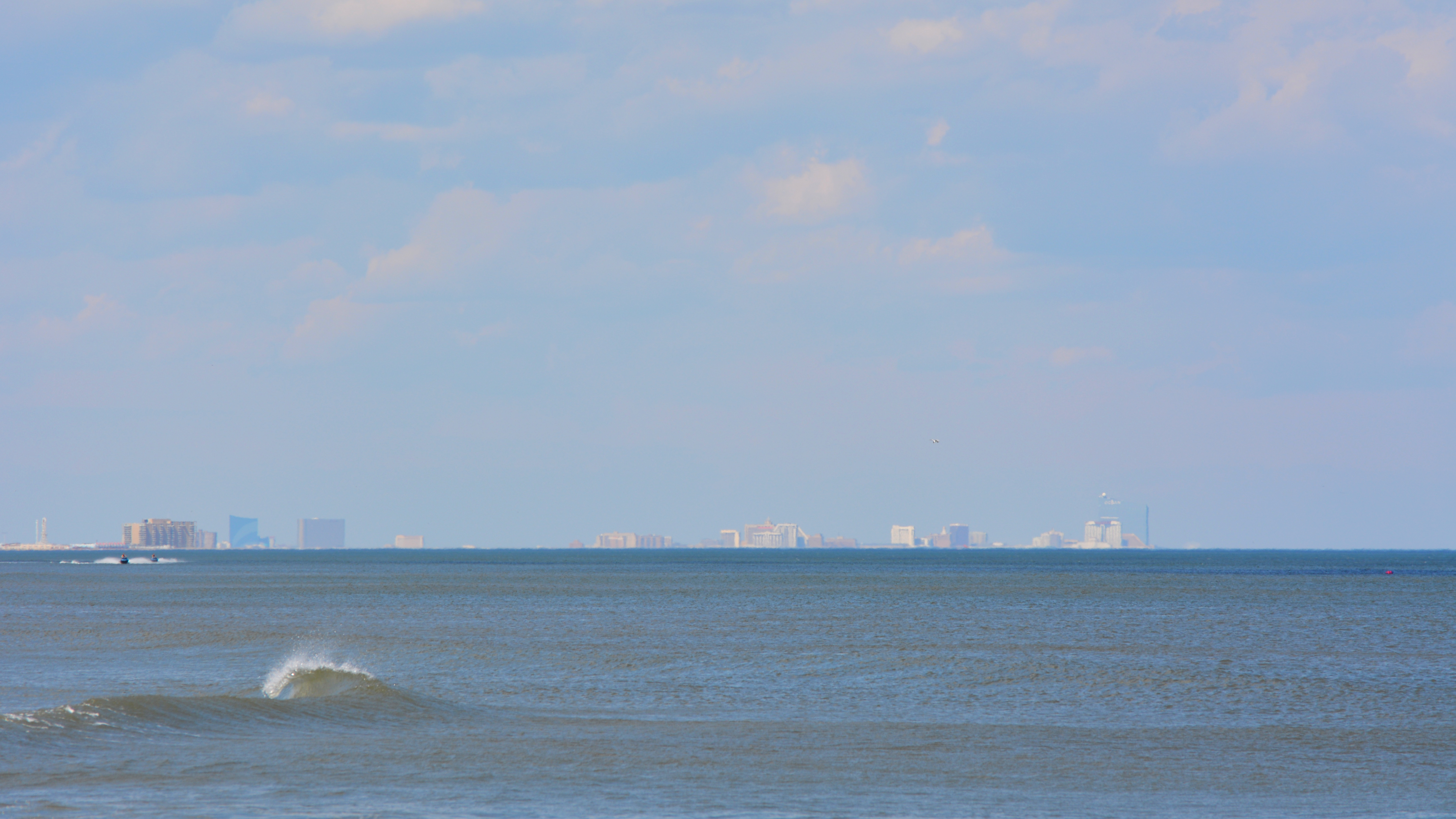 The view of the Atlantic City skyline
