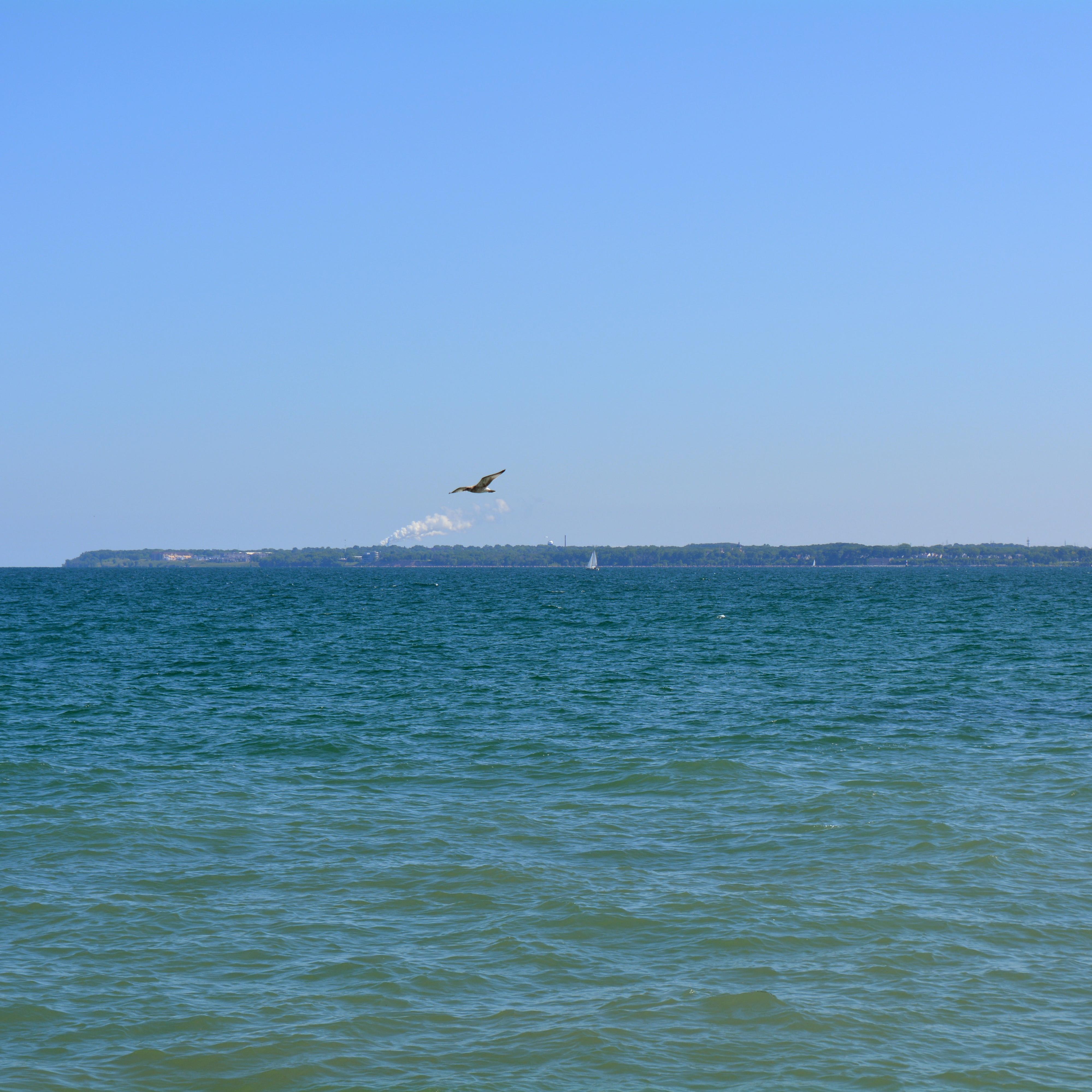 The Shore of Lake Michigan in Milwaukee Wisconsin