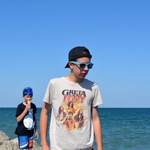 Kids by the Beach