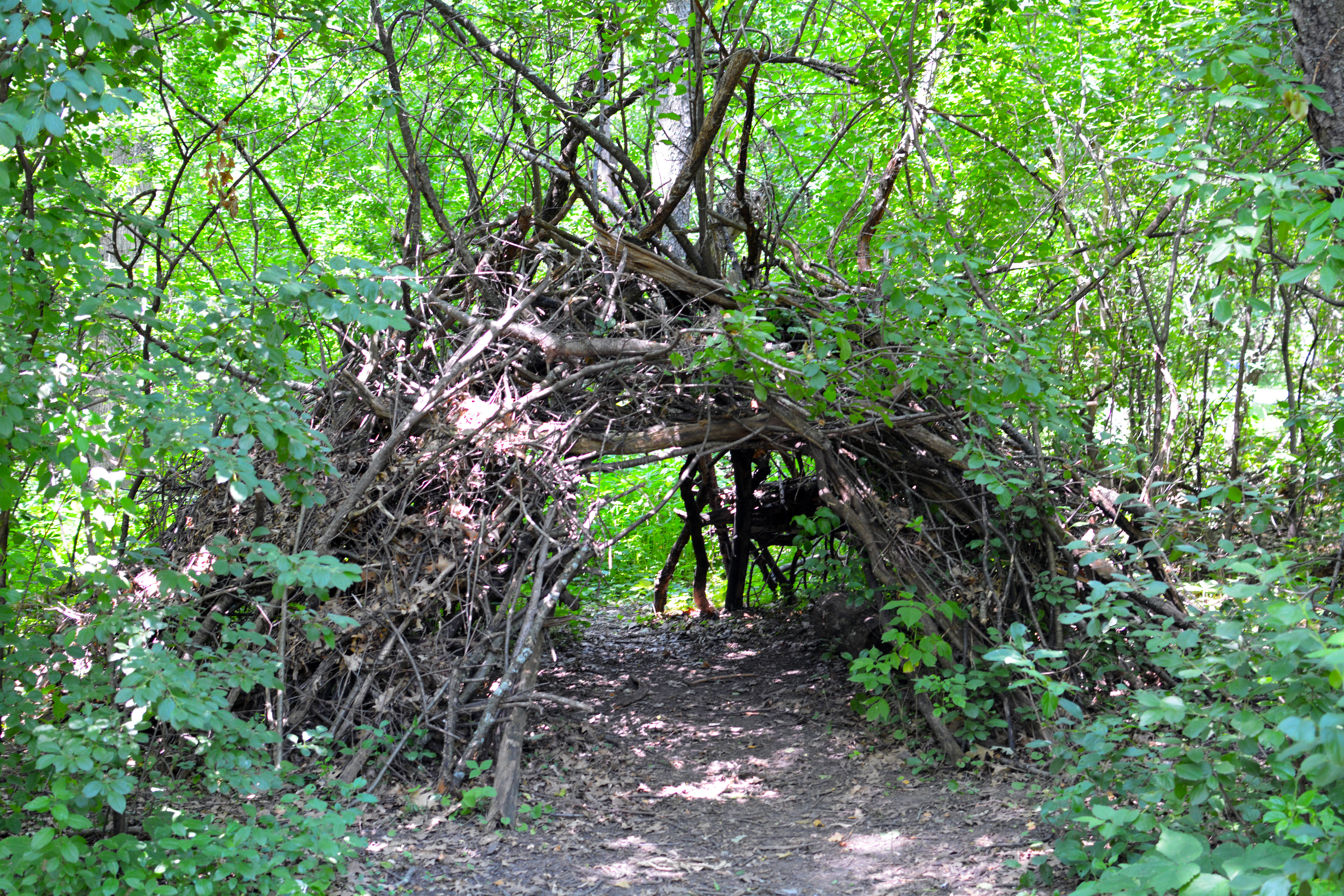 A hideaway somewhere in the Estabrook Park Disc Golf Course