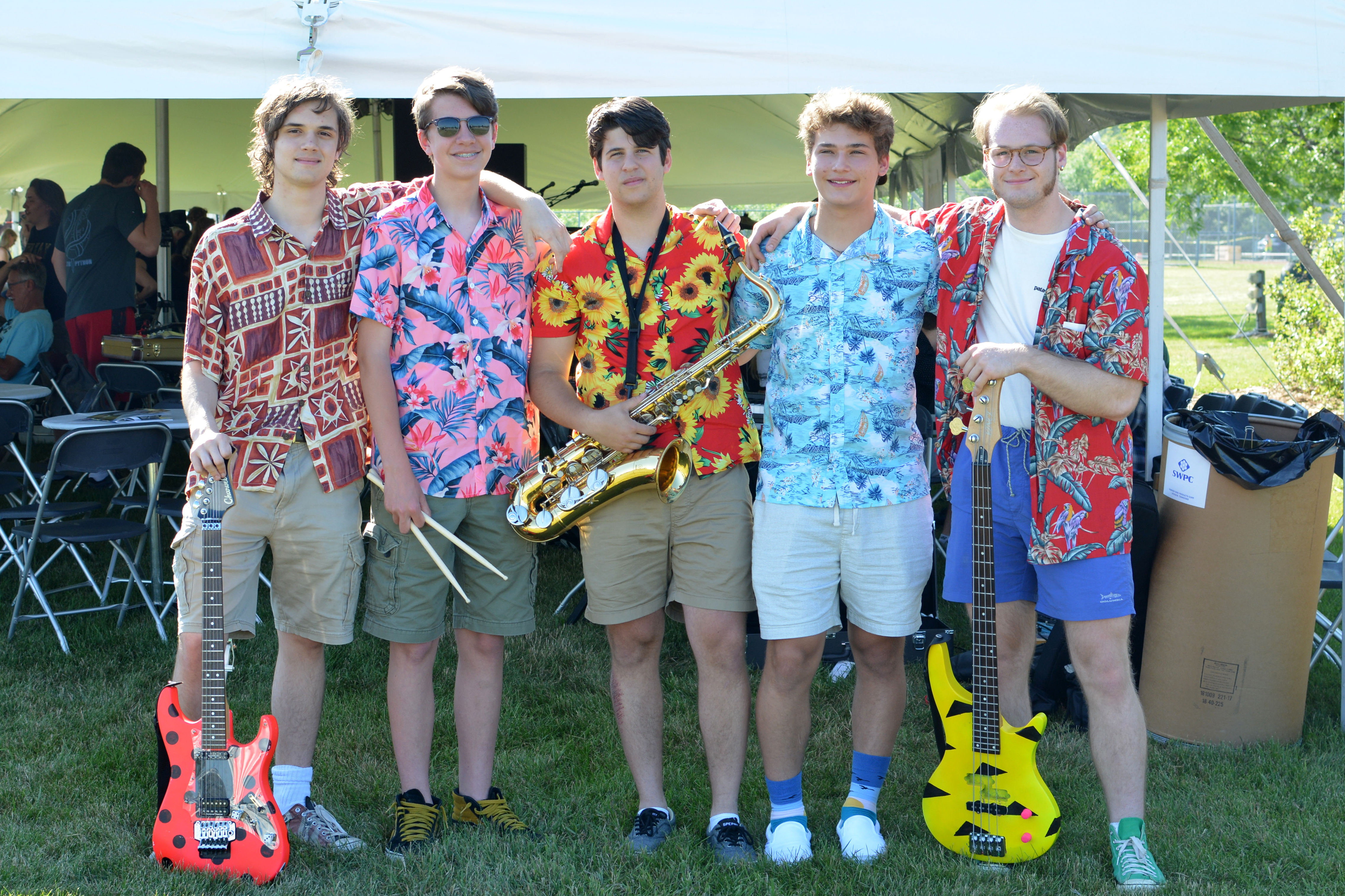 Group photo of the Madcap Quartet Band