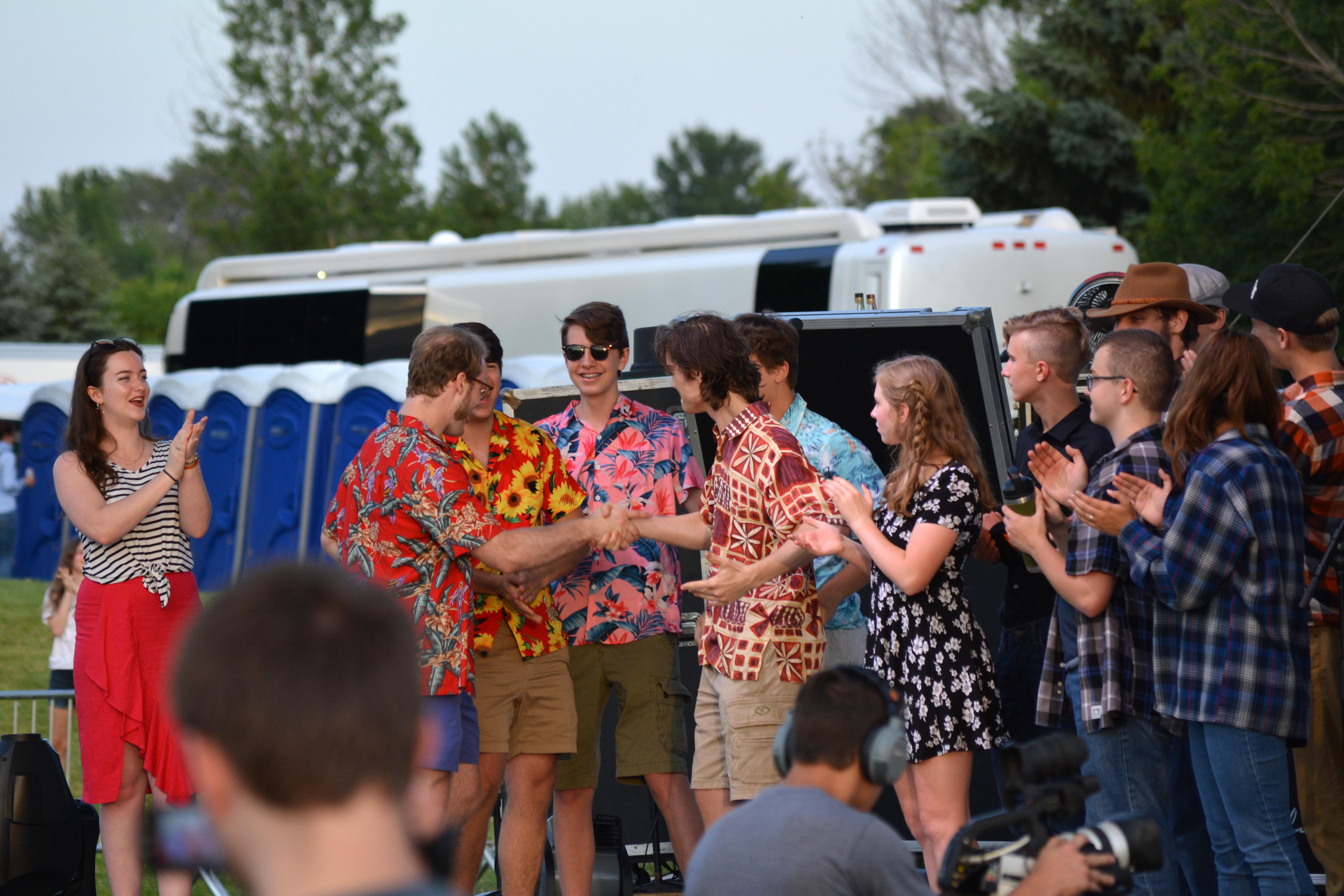The Madcap Quartet celebrates winning Battle of the Bands