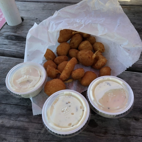 Cheese Curds with Ranch Dressing