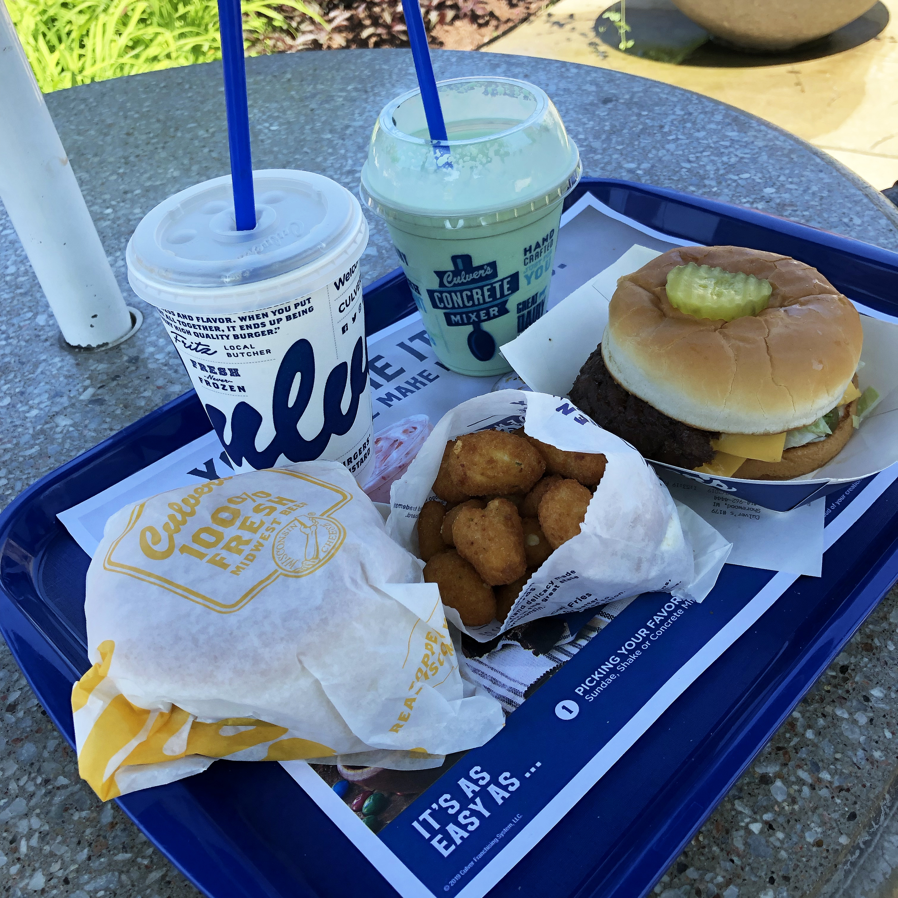 Butter Burgers and Cheese Curds from Culver's, the best fast food chain in the world