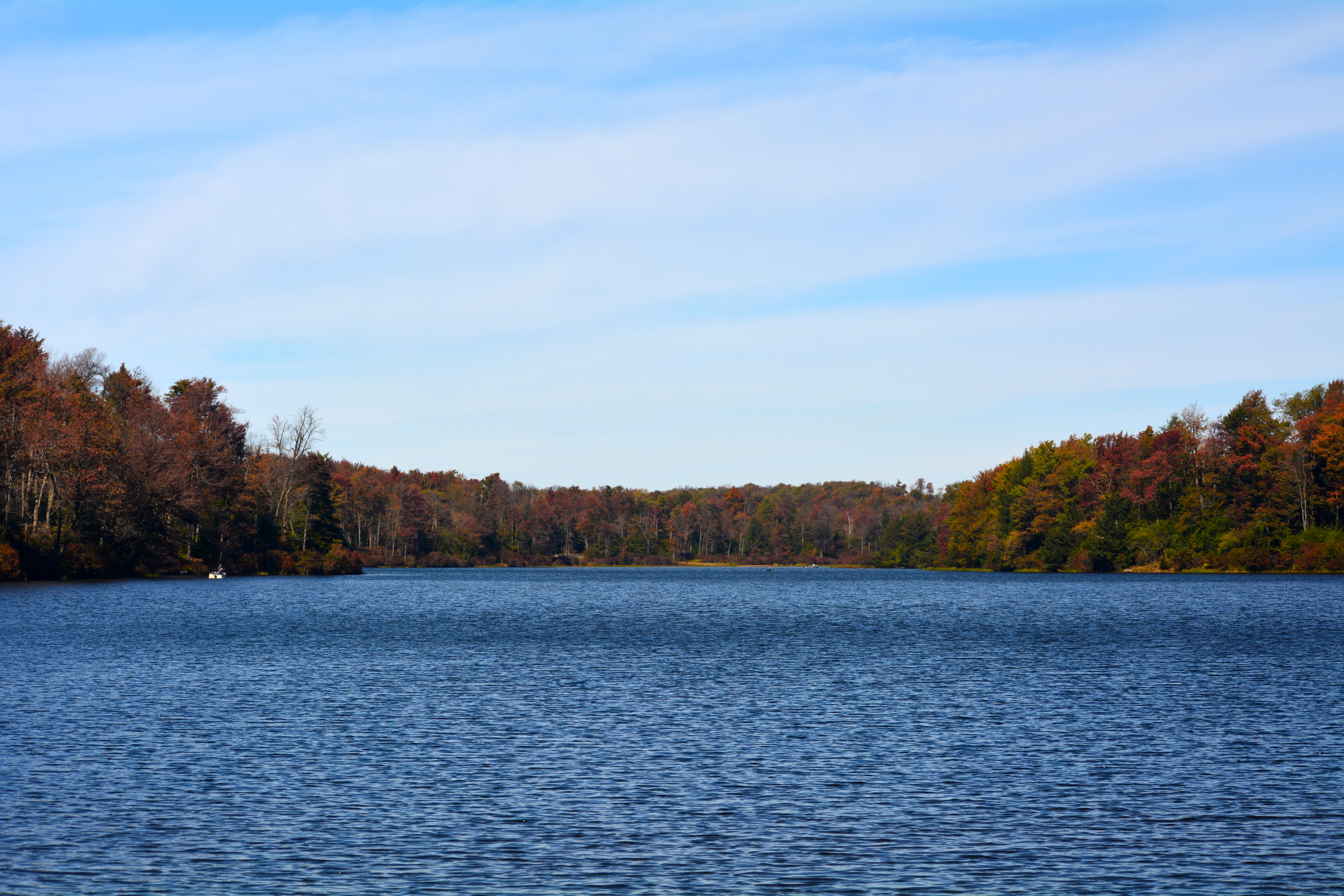 A lake at Ricketts Glen State Park in the fall