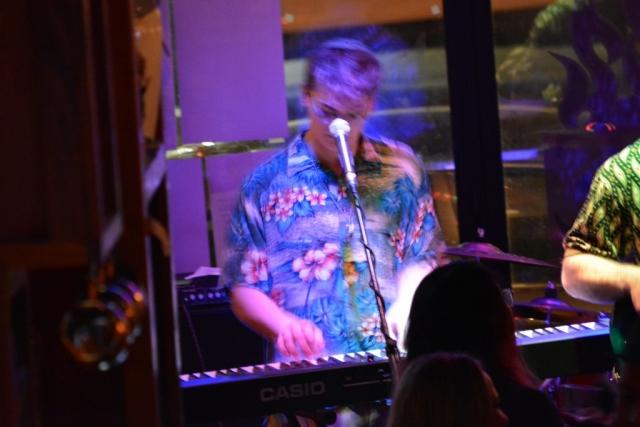 Yishay plays the keyboard